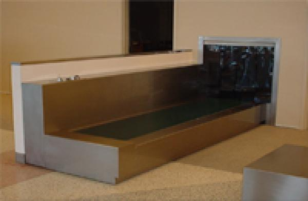Custom Stainless Ticket Counter Conveyor